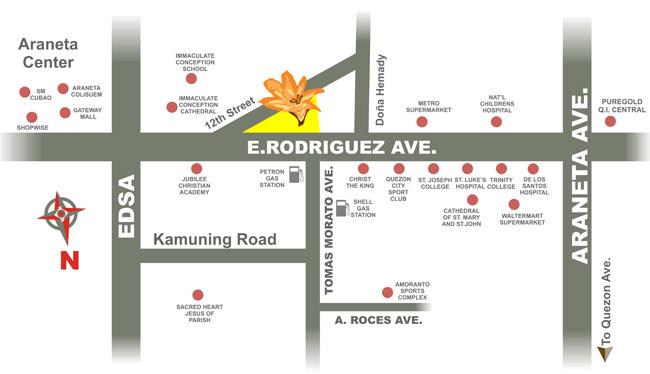 TAM Location Map