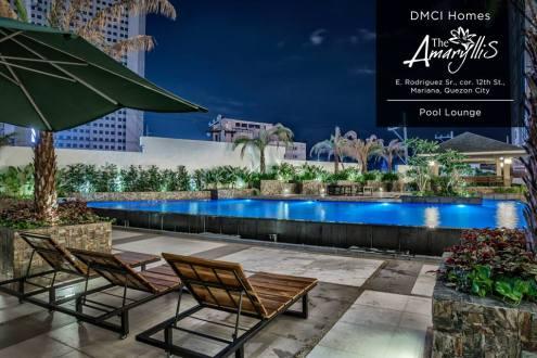 Amenity Pool at Night