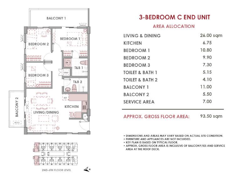 3-bedroom 93.5sqm
