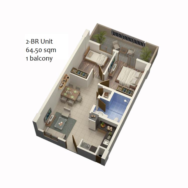 MLP 2BR unit layout