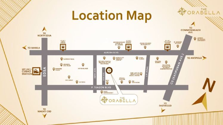 Orabella Location Map